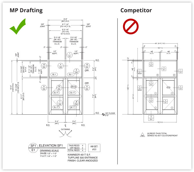 The detailed difference us vs them mp drafting design we take a look at an identical install one set of drawings provided by mp drafting and the other provided by a competitor ccuart Image collections
